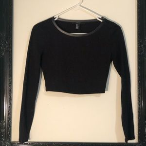 Forever 21 long sleeve back crop top